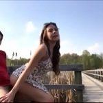 Novinha safada fazendo sexo com o namorado no parque